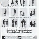 """1961 Listerine Ad """"Protection-in-Depth"""""""