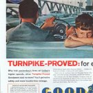 """1961 Goodyear Tires Ad """"Turnpike-Proved"""""""