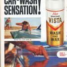 "1961 Simoniz Car Wax Ad ""Car-Wash Sensation"""