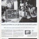 """1961 Zenith TV Ad """"patio portables"""""""