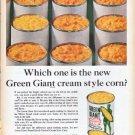 "1961 Green Giant Ad ""cream style corn"""
