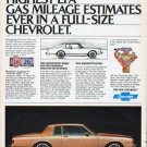 "1980 Chevrolet Ad ""Highest EPA"""