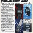 "1979 Casio Watch Ad ""Four More Miracles"""