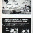 """1979 Libbey Glass Ad """"Give a glowing tribute"""""""