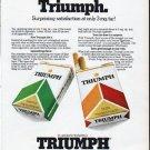 """1979 Triumph Cigarettes Ad """"Flavor-Intensified"""""""