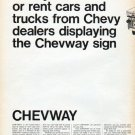 """1966 Chevway Ad """"Now you can lease"""""""