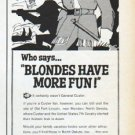 "1966 North Dakota Tourism Ad ""Blondes Have More Fun"""
