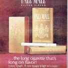 """1966 Pall Mall Cigarettes Ad """"the long cigarette"""""""