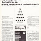 """1966 Mobil Travel Guide Ad """"The only guidebook"""""""