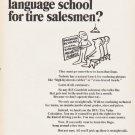 "1966 B.F. Goodrich Ad ""secret language school"""