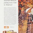 """1960 Chevrolet Ad """"paving every road"""" ... (model year 1960)"""