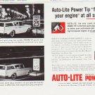 """1959 Auto-Lite Spark Plug Ad """"fires up"""""""