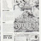 """1959 Mennen Ad """"Lucky Shavers Sweepstakes"""""""
