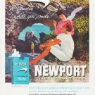 "1959 Newport Cigarettes Ad ""ocean-breeze freshness"""