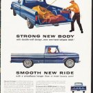 """1964 Ford Pickups Ad """"Strong New Body"""" ... (model year 1964)"""