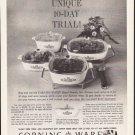 """1964 Corning Ware Ad """"Unique 10-Day Trial"""""""