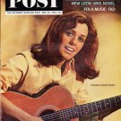 """1964 Saturday Evening Post Cover Page """"Carolyn Hester"""" ... May 30, 1964  2550"""