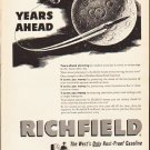 "1953 Richfield Gasoline Ad ""Years Ahead""  2592"