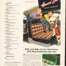 """1953 Howard Zink Seat Covers Ad """"Kids and dogs""""  2594"""