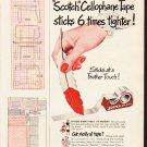 "1953 Scotch Tape Ad ""New Formula""  2601"