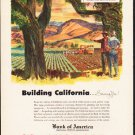 "1953 Bank of America Ad ""Building California""  2605"