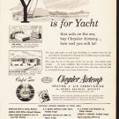 "1953 Chrysler Airtemp Ad ""Y is for Yacht""  2608"