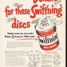 "1953 Swift's Shortening Ad ""Swift'ning discs""  2620"