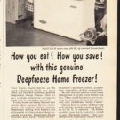 "1953 Deepfreeze Ad ""How you eat""  2622"