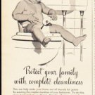 """1953 Hexol Germicide Ad """"Protect your family""""  2626"""