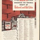"""1953 Olympic Stain Ad """"Redwood and Red Cedar""""  2628"""