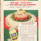 """1953 Best Foods Ad """"Whole Eggs""""  2640"""