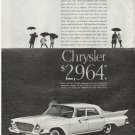 "1961 Chrysler Ad ""spread the news"" ~ model year 1961  2645"