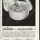 "1961 Sunbeam Mixmaster Ad ""Finest Features""  2663"