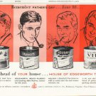 """1961 Edgeworth Tobacco Ad """"Remember Father's Day""""  2678"""