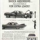 """1961 Superlift Shock Absorbers Ad """"extra loads""""  2682"""