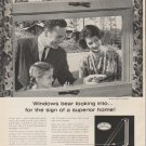 """1961 Libbey Owens Ford Ad """"Windows bear looking into""""  2688"""