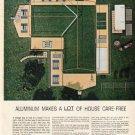 """1961 Alcoa Aluminum Ad """"a lot of house""""  2694"""