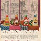 "1961 Kraft Ad ""Exotic Dressings""  2701"
