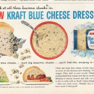 "1961 Kraft Ad ""Kraft Blue Cheese Dressing""  2705"