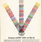 "1962 Monsanto Ad ""satellite radios""  2734"