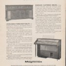 """1962 Magnavox Ad """"space age electronics""""  2737"""