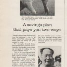 "1962 U.S. Savings Bonds Ad ""A savings plan""  2769"