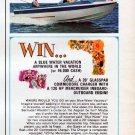 """1967 Glasspar Ad """"Blue Water Winner!"""""""