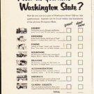 "1953 Washington State Ad ""How do you rate Washington State"""