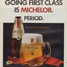 """1967 Michelob Beer Ad """"Going First Class"""""""