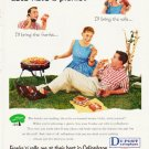 """1957 Du Pont Ad """"Let's have a picnic"""""""