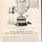 "1962 Paul Masson Ad ""Your chance"""