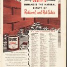 "1953 Olympic Stain Ad ""Redwood and Red Cedar"""