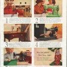 "1958 Singer Sewing Machine Ad ""Persuasive things"""