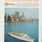 """1961 Moore-McCormack Lines Ad """"Much More w/ Moore-McCormack"""""""
